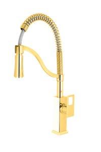ظرفشویی فنری فلت ایستاده طلایی