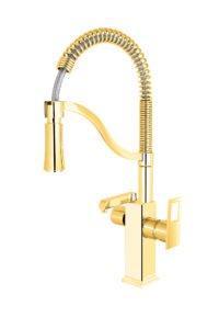 ظرفشویی فنری فلت ایستاده (۲کاره)طلایی